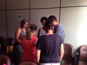 Jornada Pedagógica 2015 - Gamificação 28/01/2015 - Grupo 2 concentrado na atividade